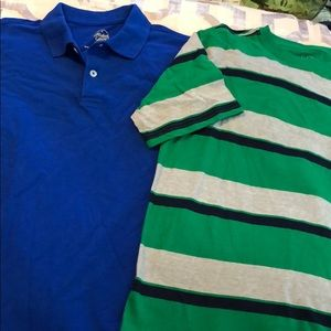 Boys large 10/12 lot of 2 polo and t shirt nwot